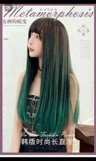 (NO INSTOCKS!)Preorder korean Air bangs natural fluffy full head long straight wig* waiting time 15 days after payment is made * chat to buy to order