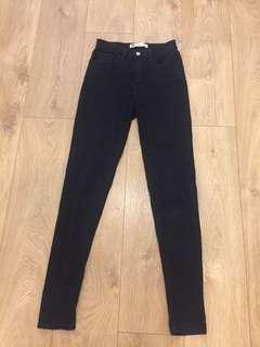 Levi black jeans size 25 high waisted