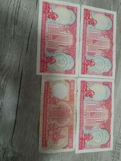 4張匯豐100蚊