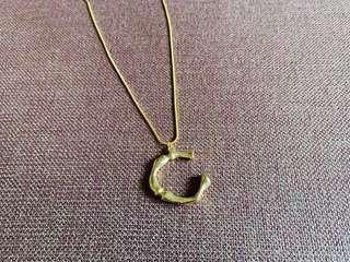 Letter C Gold Alloy Necklace