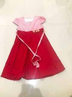 Dress Anak Floral red (ori)