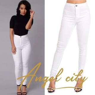 BRANDNEW size;31 Highwaisted White Pants