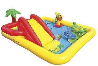Intex Inflatable Pool Water Play Rainbow Ring Center Slidek