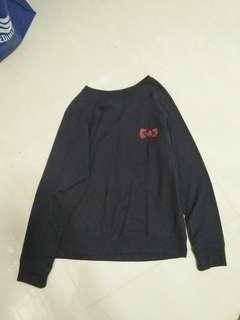 Hello Kitty Pullover Navy Blue Sweater Outerwear