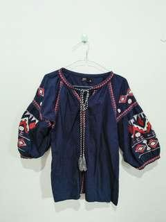 Puricia Tribal Top Navy