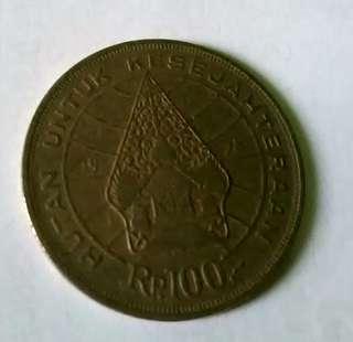 Koin Rp. 100 tipis tahun 1978