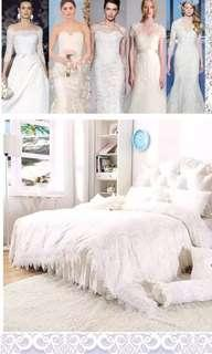 🚚 Korean Princess Laced Wedding Bedset
