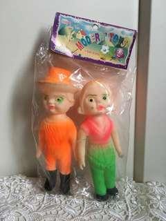 日本購入 懷舊公仔 15cm 軟膠 公仔 昭和娃娃