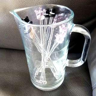 Alcohol mixer jug & 10 his & hers drink stirrers