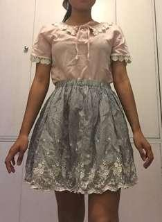 Korean SET Top + Skirt