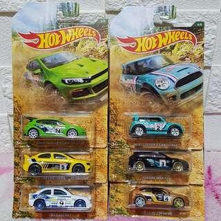 Hot Wheels Rally Series Set (6 pcs Complete Set)
