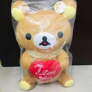 鬆弛熊 公仔 I love you 情人節禮物 50cm 高