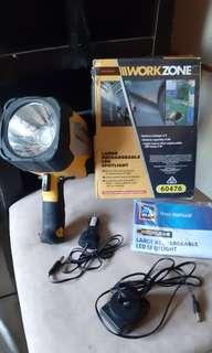 Workzone Large Rechargeable LED Spotlight