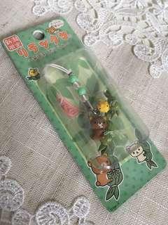 日本購入 新瀉限定 鬆弛熊 電話繩 匙扣 公仔