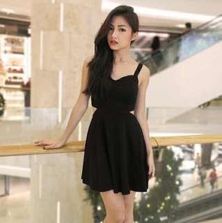 🚚 PMT Black Cut Out Dress