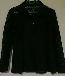 Kemeja blouse brukat