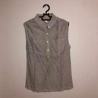 Grey & White Stripes Shirt