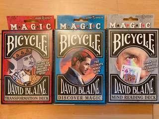 🚚 大衛布萊恩魔術道具牌 Bicycle 製(魔術/收藏)