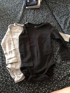 🚚 H&M long sleeve rompers