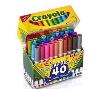 🚚 💥💥SALES! BN Crayola Broad Line Markers 40pcs pack