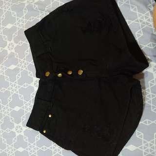 GBJ Black Shorts