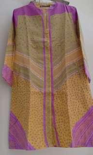 Dress batik warna pastel vgc