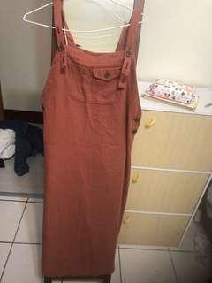 🚚 古著紅吊帶裙