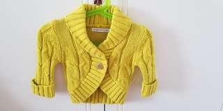 weekend a la mer 黃色針織外套 6months