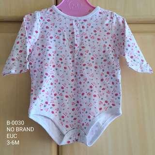 Baby Girl Long Sleeve Onesie 3-6M