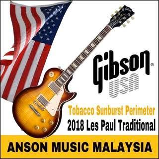 Gibson Les Paul Traditional 2018 Electric Guitar, Tobacco Sunburst Perimeter