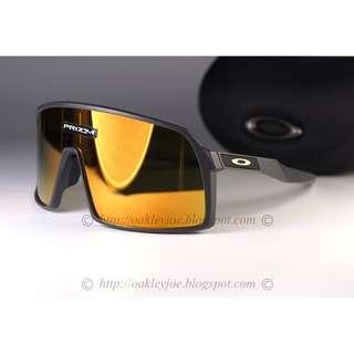 🚚 Oakley Sutro matte carbon + 24k iridium OO9406-0537 sunglass shades