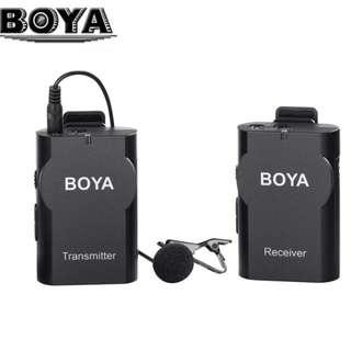 Boya BY-WM4 Professional Wireless Microphone System Lavalier Lapel Mic for Canon Nikon Sony DSLR/Camcorder/Recorder/iPhone