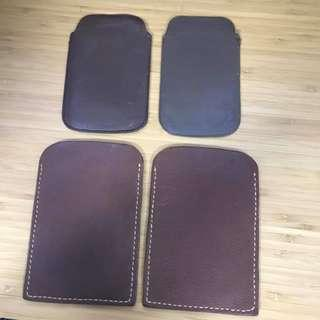 Hand made leather for mobile 真皮手機袋