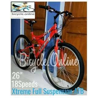 Full Suspension MTB / Mountain bike. 18 Speeds. Brand new bicycles, Xtreme *Taiwan