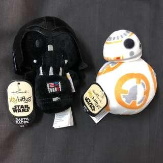 Hallmark Star Wars itty bittys Darth Vader & BB-8