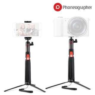 Phoneographer SC1 Bluetooth Remote Control Smartphone Selfie Sticks Carbon Fiber Mini Tripod