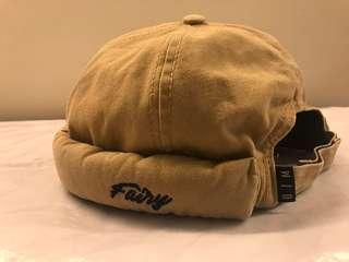 日系雅痞嬉皮 瓜皮帽、水手帽 街頭卡其 刺繡款