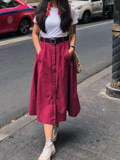 Long vintage skirt with buttons