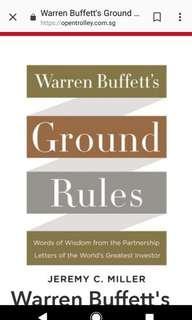 New Hardback book: Warren Buffet's Ground Rules