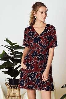 TCL Elyne Printed Sleeved Dress