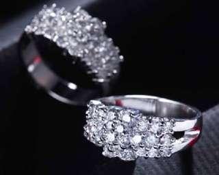 訂製婚戒1.9克拉時尚美鑽