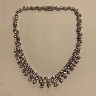 [全新] VALENTINO 仿白鑽頸鏈 necklace
