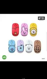 🚚 [PO] official BT21 wireless silent mouse royche