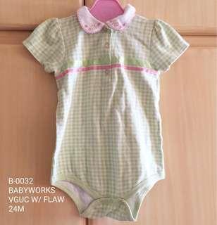 Babyworks Baby Girl Onesie 24M
