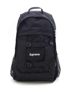 二手 Supreme 36th backpack SS14 36代 黑 後背包 兩側logo 2014 春夏