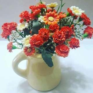 Yellow Flowers Jar