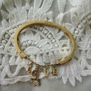 Agatha gold tone bangle