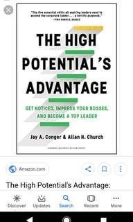 New Hardback book : The high potential's advantage