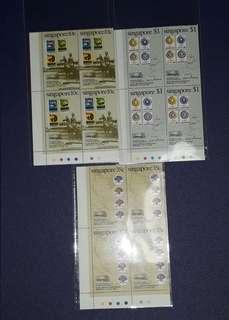 Singapore stamps Mint  block of 4