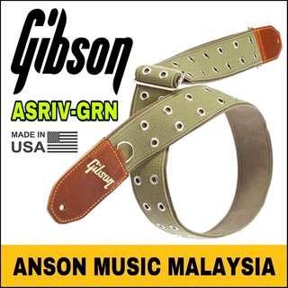 Gibson The Rivet Guitar Strap (ASRIV-GRN)